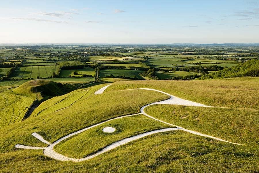Uffington White Horse, Oxfordshire, England, United Kingdom. A p